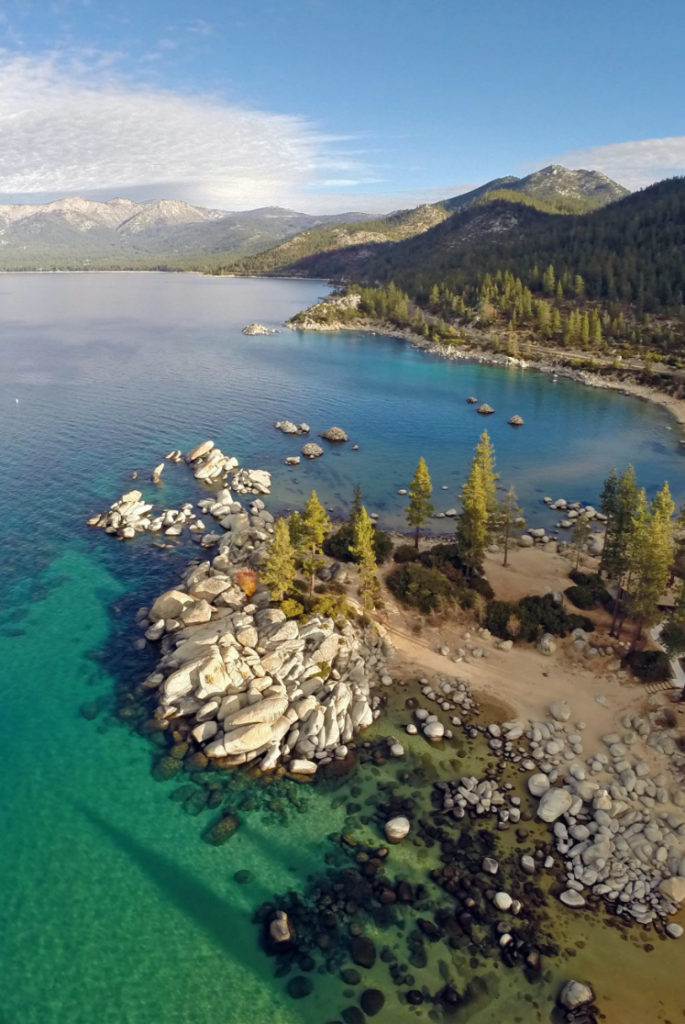 View from the sky tahoe east shore trail