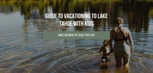 lake with kids